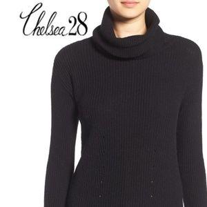 CHELSEA 28 Black Cowl Neck Sweater